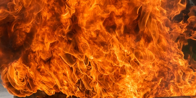 Feuerflamme hintergrund, feuer und rauchverschmutzung