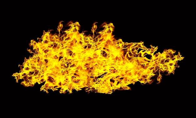 Feuerflammen auf einem schwarzen hintergrund
