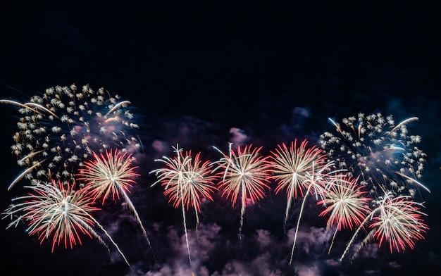 Feuerwerk am himmel.