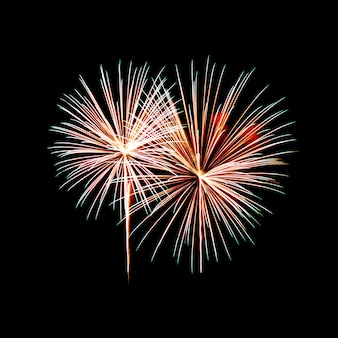 Feuerwerk an einem nachthimmel