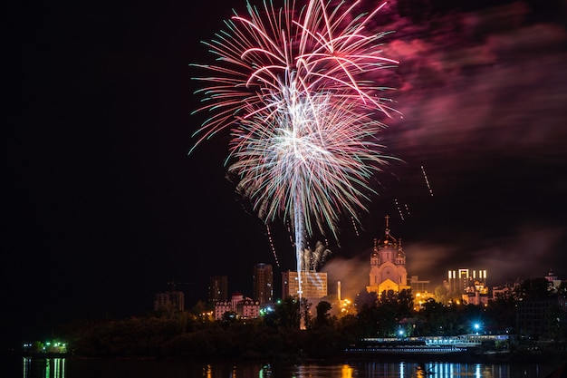 Feuerwerk-konzept in chabarowsk frohes neues jahr