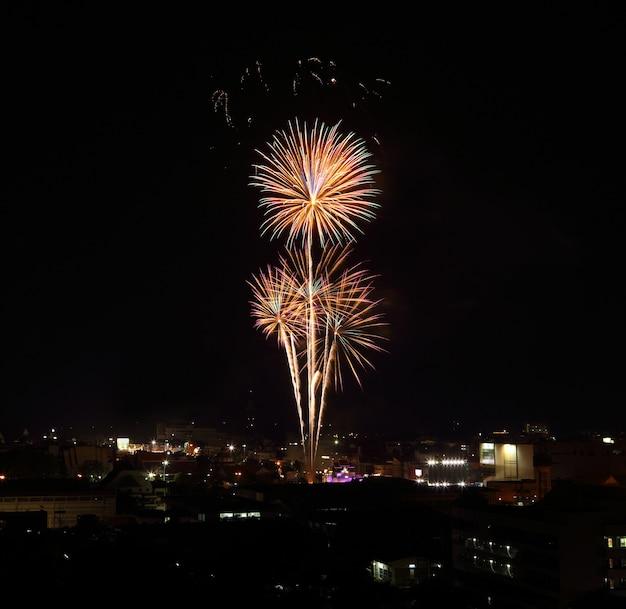 Feuerwerk über himmel