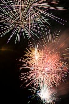 Feuerwerke nachts, feuerschlösser