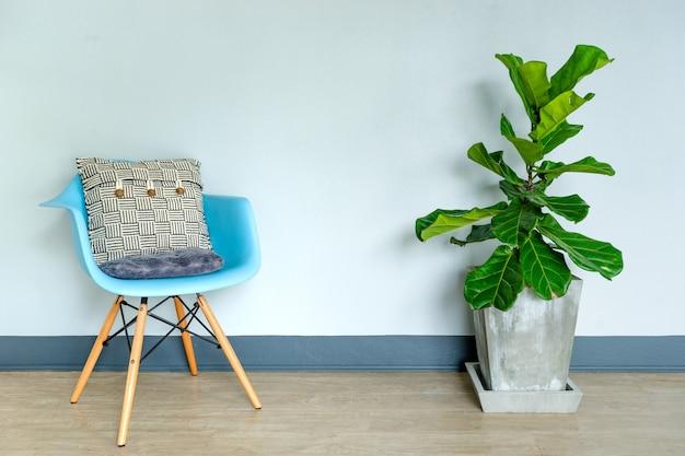 Fiddle leaf feigenbaum natürliches licht wohnzimmer