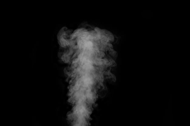 Figured rauch auf einem dunklen hintergrund. abstrakter hintergrund, gestaltungselement