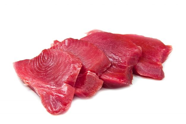 Filet von frischem thunfisch