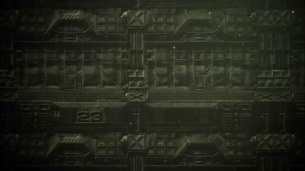 Filmisches thema mit partikeln und dunklem stahlhintergrund. luxuriöser und eleganter grunge-stil des kinothemas, 3d-illustration