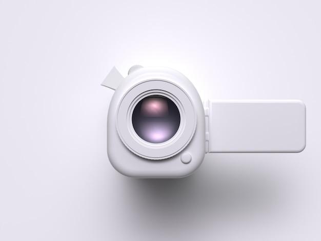 Filmkonzept der weißen videokameratechnik 3d rendern