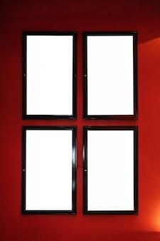 Filmplakatkino-leuchtkasten oder anzeigenrahmenkino lightbox oder anschlagtafeln mit weißer leerstelle