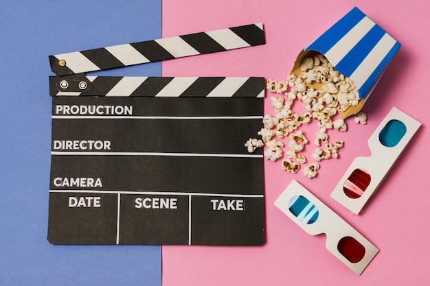 Filmschiefer und 3d-brille