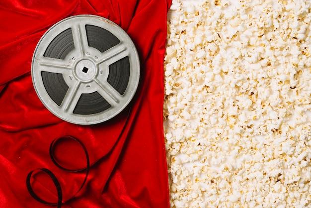 Filmspule und popcorn