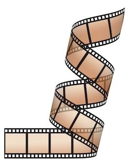 Filmstreifen auf den weißen flächen