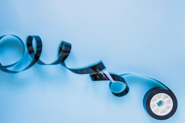 Filmvorrat auf blau
