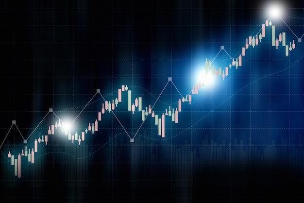 Finanzbörsediagrammhintergrund, technologieschirm