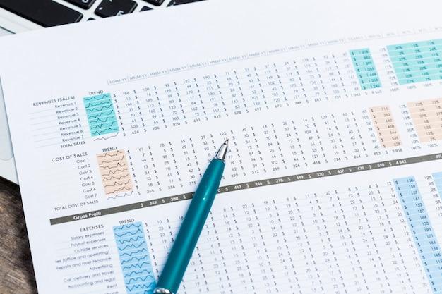 Finanzdiagramm und -diagramm