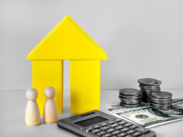 Finanzielles hypothekenkonzept immobilieninvestition