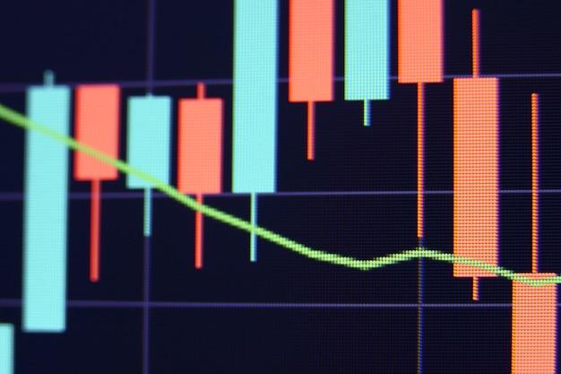 Finanzmarktdiagramm. börse. selektiver fokus.