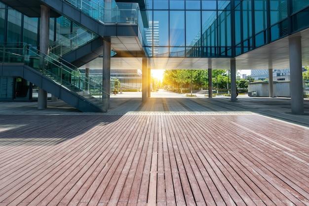 Finanzplatz und bürogebäude in ningbo, china Premium Fotos
