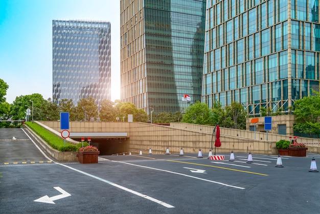 Finanzviertel plaza parkplatz