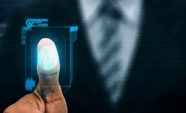 Fingerabdruck-biometrische digitale scan-technologie.