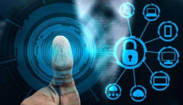 Fingerabdruck-biometrische digitale scan-technologie.