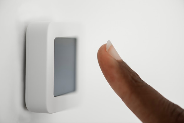 Fingerabdruckscan für smart home-sicherheitssystem