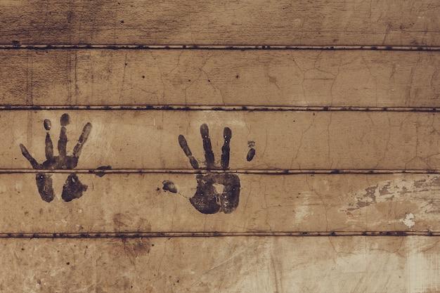 Fingerabdrücke an der wand