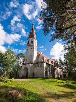Finnische kirche in lumivaara in karelien