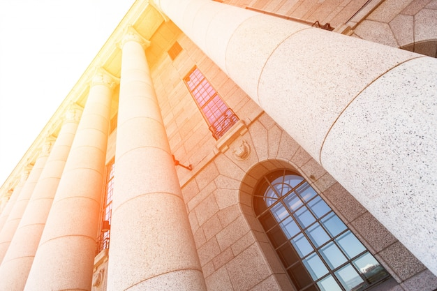 Finnisches parlamentsgebäude in helsinki