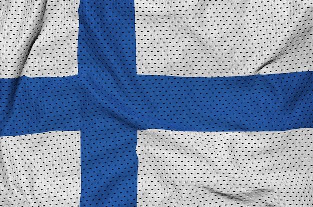 Finnland flagge gedruckt auf einem polyester-nylonnetz