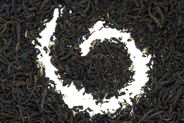 Fireweed-tee mit thymuskraut, abschluss oben.