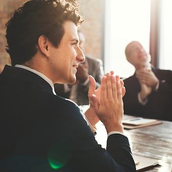Firmenkundengeschäft-team achievement success concept