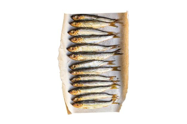 Fisch sardine sprotten geräuchert oder gesalzen meeresfrüchte makrele omega