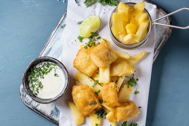 Fisch und mit sauce