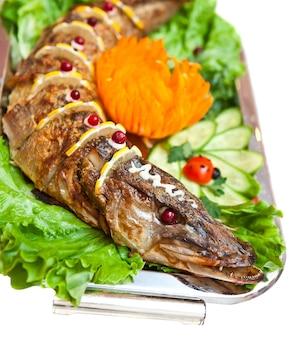 Fisch zum frühstück gebraten