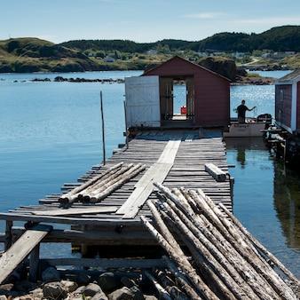 Fischenkai bei Twillingate, Süd-Twillingate-Insel, Neufundland und Labrador, Kanada