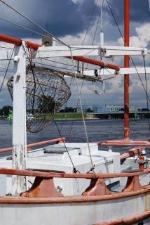 Fischerboot, weiß