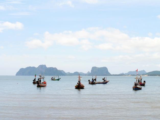 Fischerboote am strand festgemacht