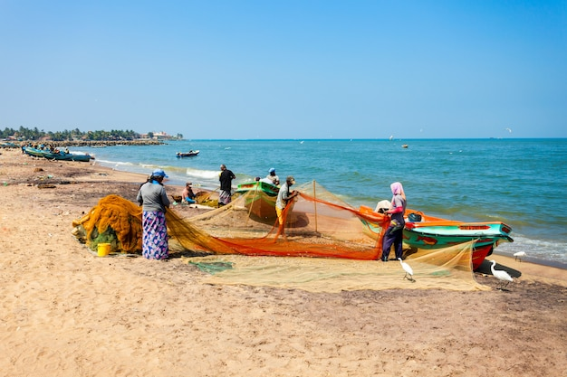 Fischerboote in negombo