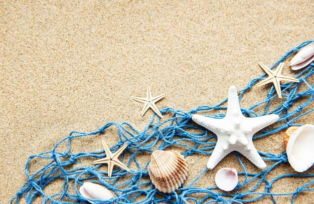 Fischernetz am sandstrand
