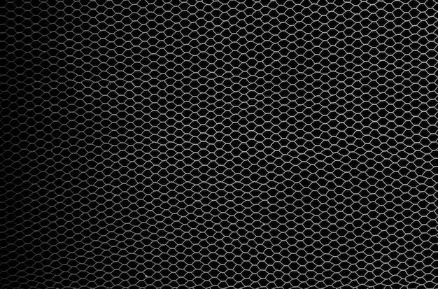 Fischernetz getrennt auf schwarzem