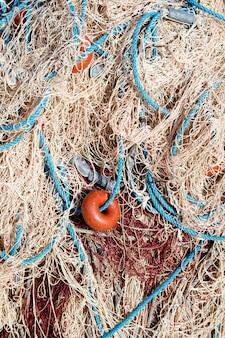 Fischernetze greifen texturen aus dem mittelmeerraum an