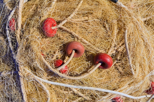 Fischernetznetz-gerätbeschaffenheit im gandia-hafen