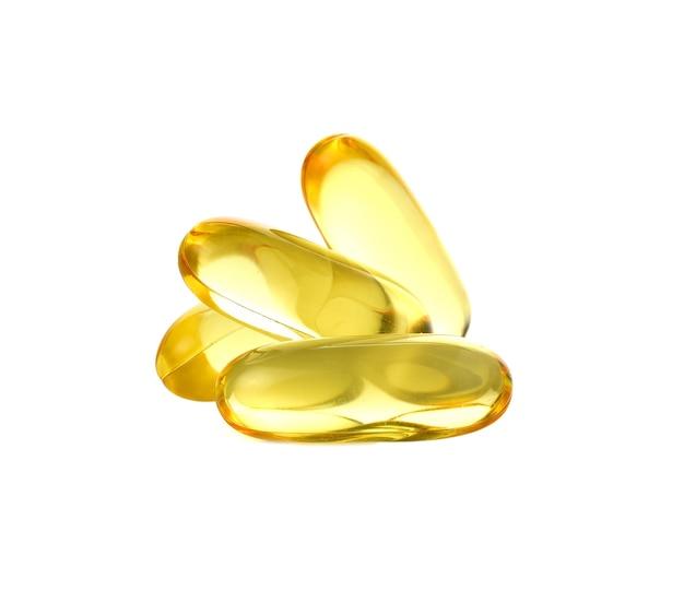 Fischöl isoliert auf weiß