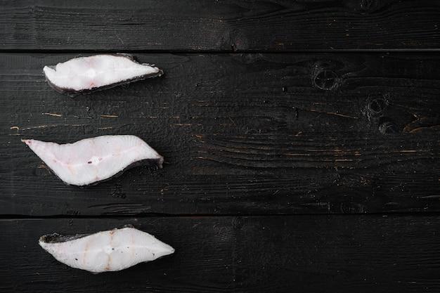 Fischsteaks und seefischfilet tiefgekühlt