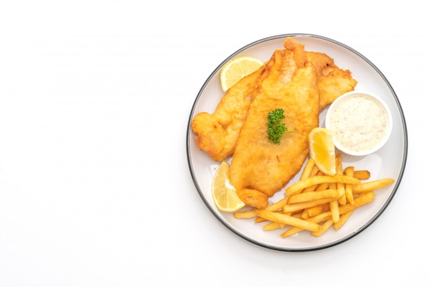 Fish and chips mit pommes frites