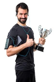 Fitness erster läufer hübscher erfolg