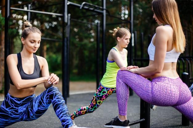 Fitness im freien.