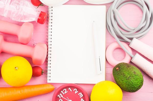 Fitness und aktive gesunde lebensweise konzept