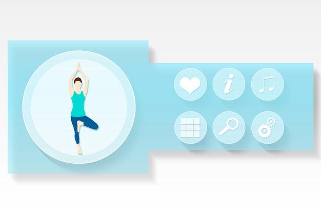 Fitness- und gesundheits-app-menü